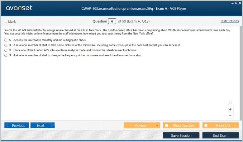 CWNP Certified Wireless Analysis Professional Test CWAP-403 Exam QA PDF+SIM