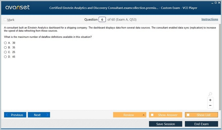 Certified Einstein Analytics and Discovery Consultant Premium VCE Screenshot #1