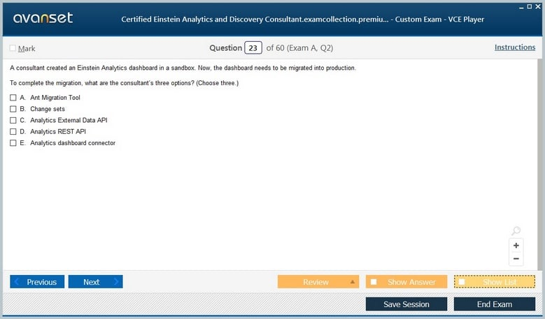 Certified Einstein Analytics and Discovery Consultant Premium VCE Screenshot #3