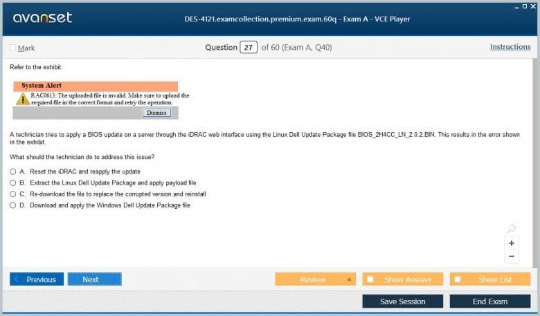 EMC DES-4121 Practice Test Questions - DES-4121 VCE Exam