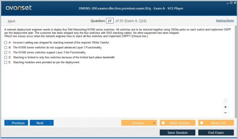 Dell DNDNS-200 Practice Test Questions - DNDNS-200 VCE Exam Dumps
