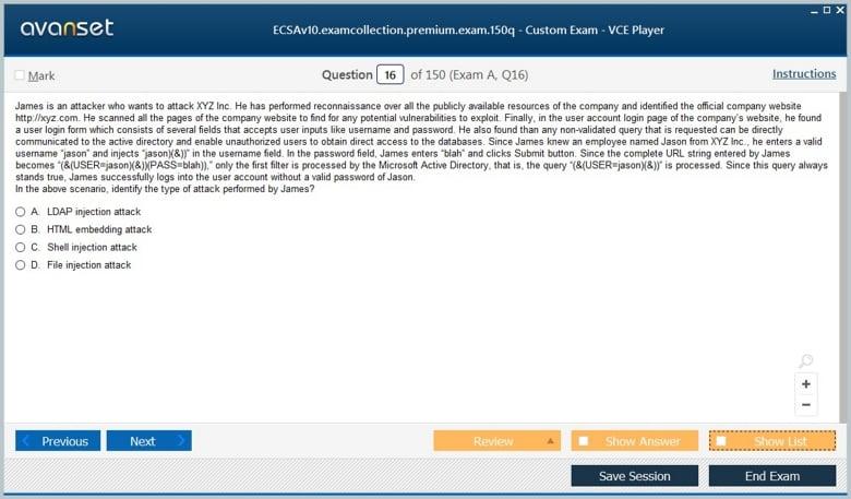 ECSAv10 Premium VCE Screenshot #2