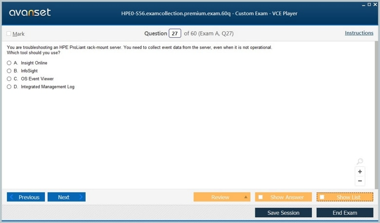 HPE0-S56 Premium VCE Screenshot #4
