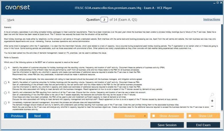 ITILSC-SOA Premium VCE Screenshot #2