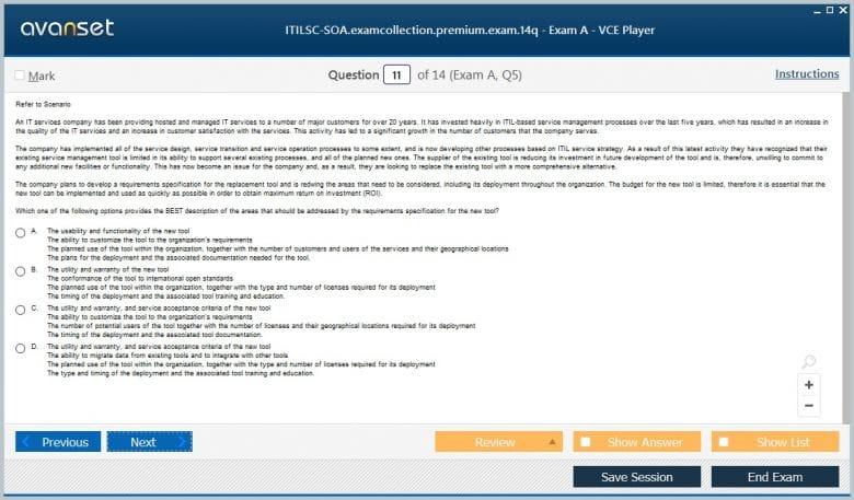 ITILSC-SOA Premium VCE Screenshot #4
