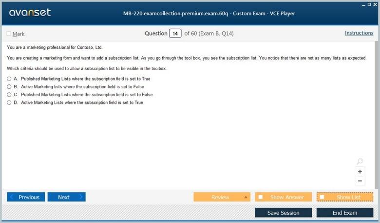 MB-220 Premium VCE Screenshot #2