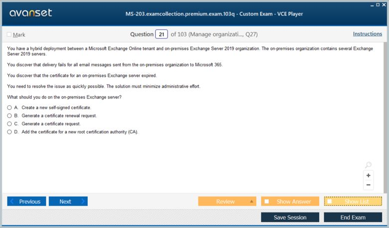 MS-203 Premium VCE Screenshot #2