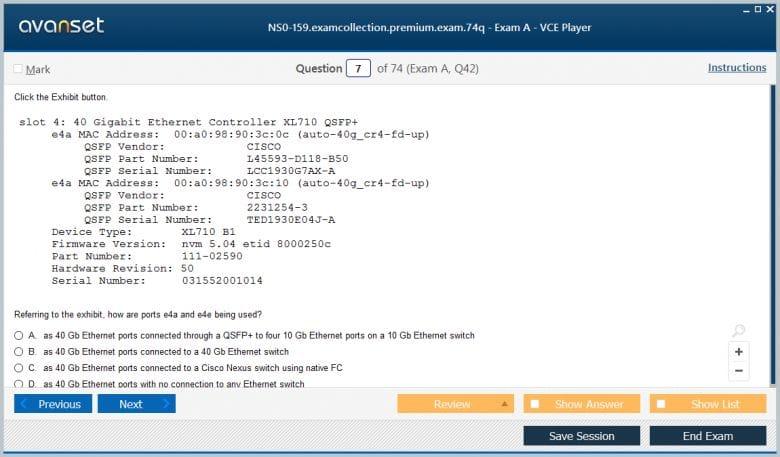 NS0-159 Premium VCE Screenshot #1