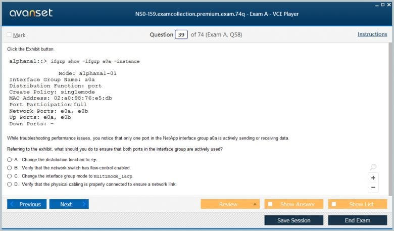 NS0-159 Premium VCE Screenshot #3