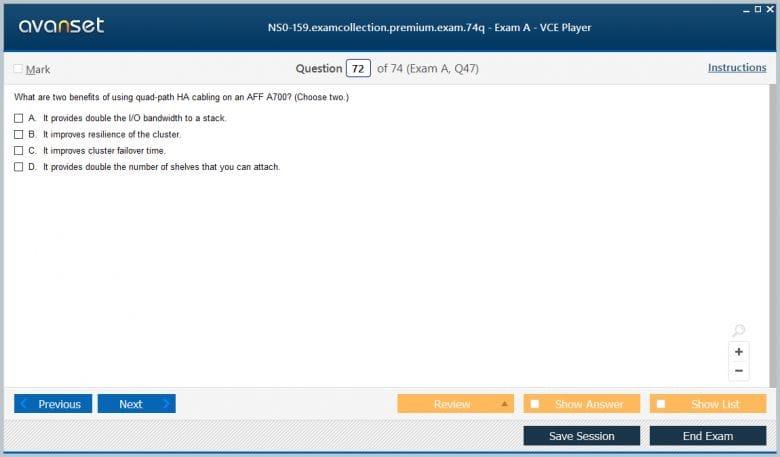 NS0-159 Premium VCE Screenshot #4