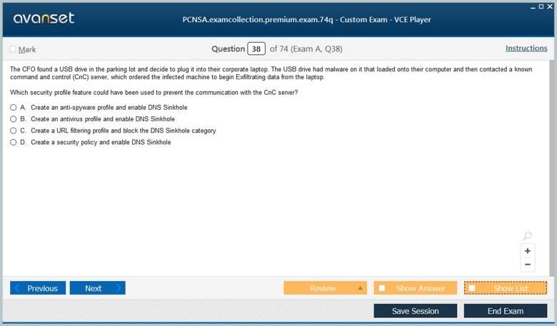 PCNSA Premium VCE Screenshot #4