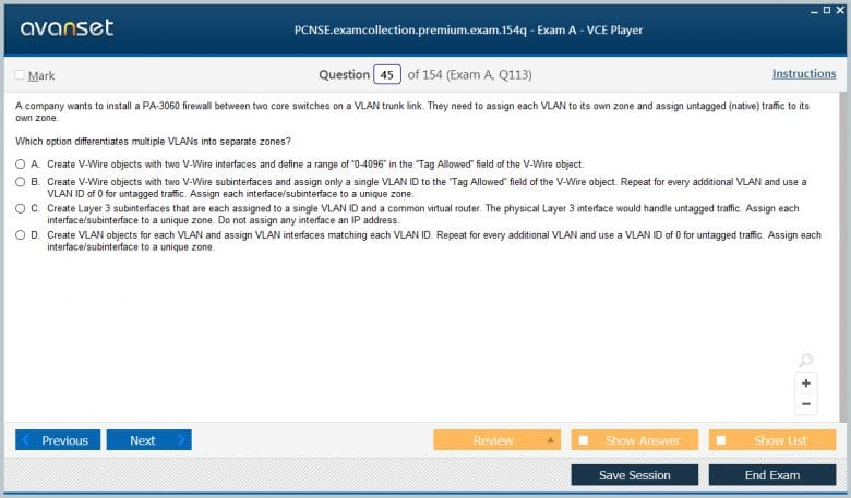 PCNSE Premium VCE Screenshot #1