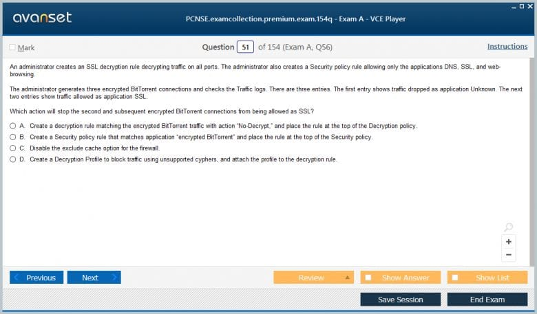 PCNSE Premium VCE Screenshot #2