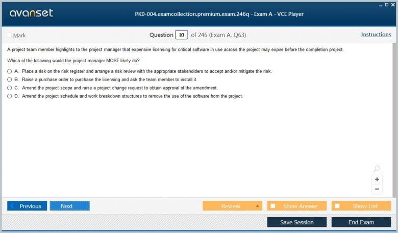 PK0-004 Premium VCE Screenshot #1