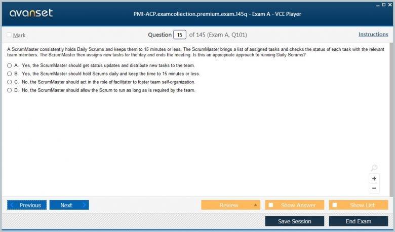 PMI-ACP Premium VCE Screenshot #1