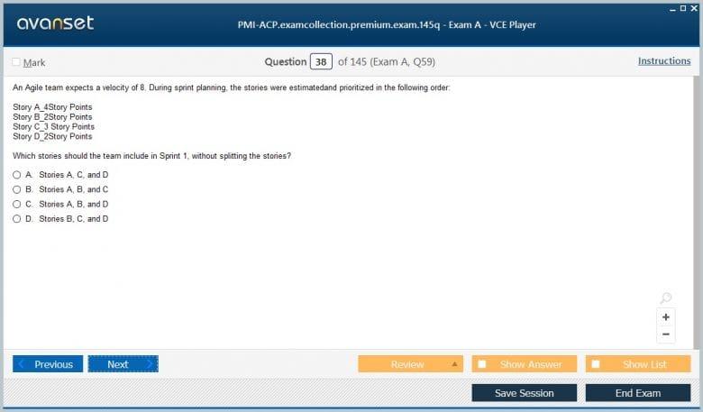 PMI-ACP Premium VCE Screenshot #2