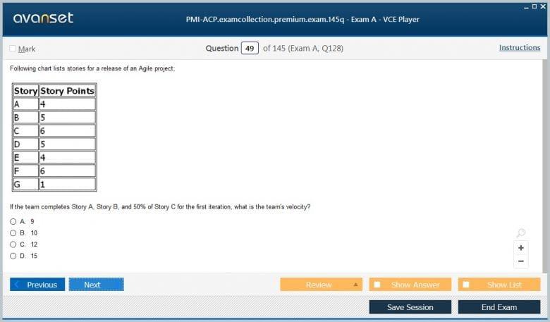 PMI-ACP Premium VCE Screenshot #3