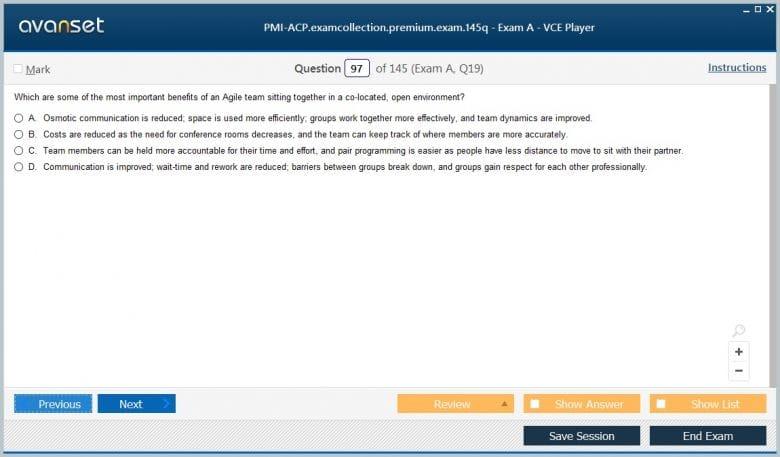 PMI-ACP Premium VCE Screenshot #4