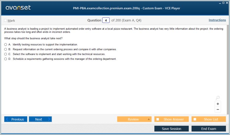 PMI-PBA Premium VCE Screenshot #1