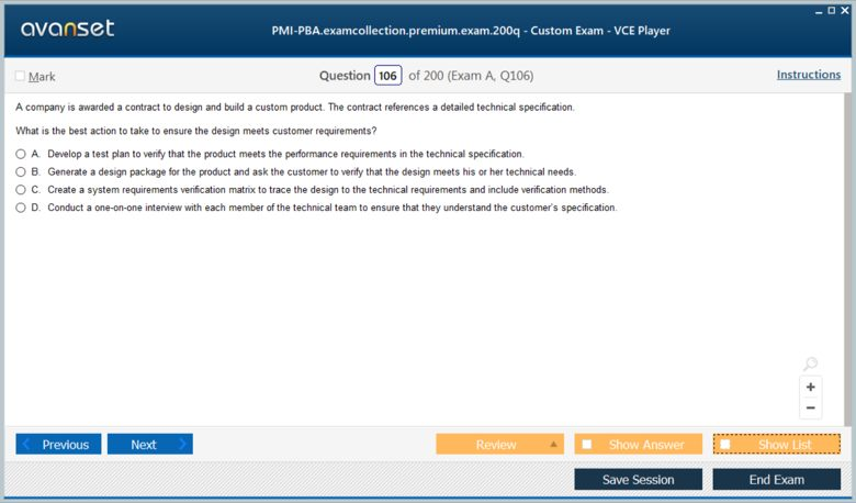 PMI-PBA Premium VCE Screenshot #4