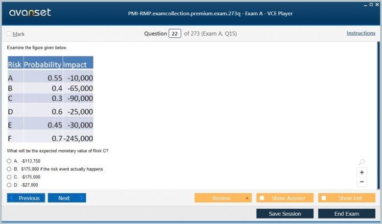 PMI-RMP Premium VCE Screenshot #3