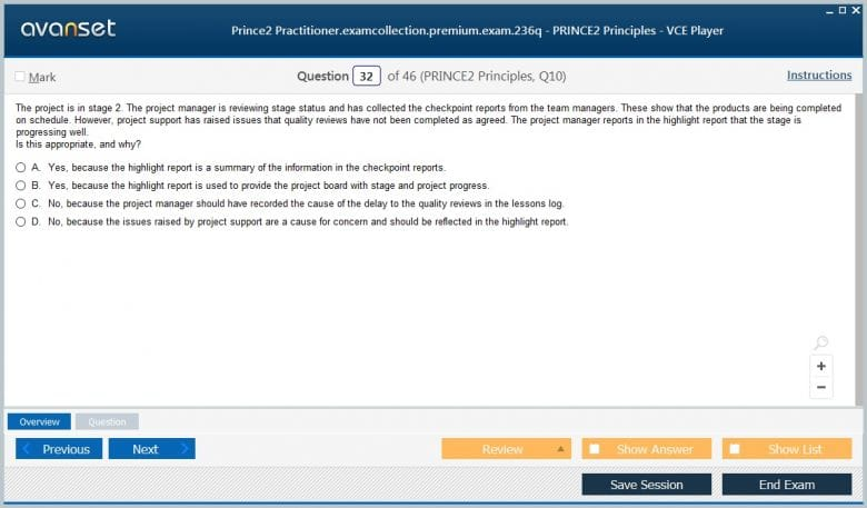 PRINCE2-Practitioner Premium VCE Screenshot #3
