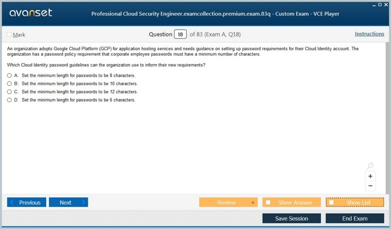 Professional Cloud Security Engineer Premium VCE Screenshot #2
