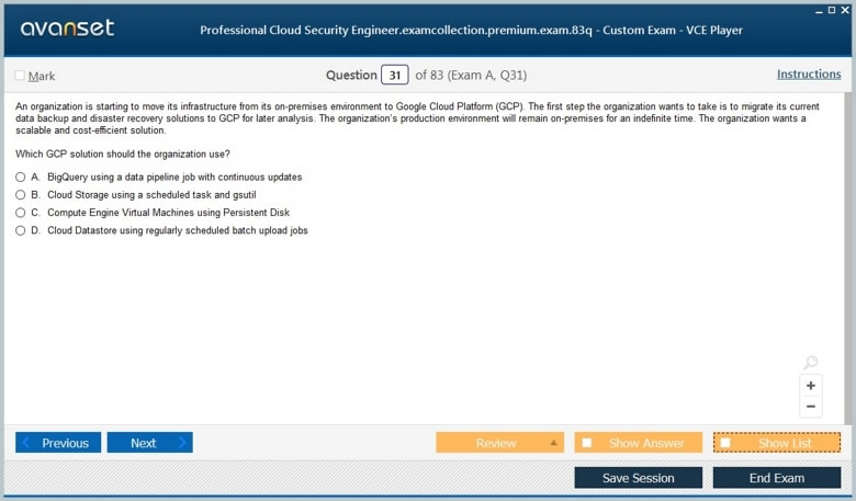 Professional Cloud Security Engineer Premium VCE Screenshot #4