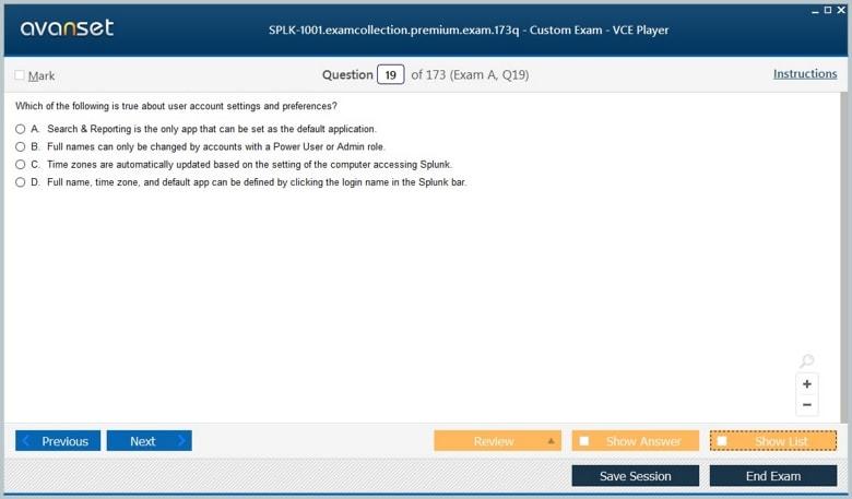 SPLK-1001 Premium VCE Screenshot #1