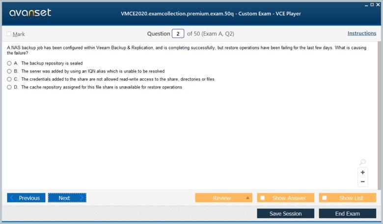 VMCE2020 Premium VCE Screenshot #1