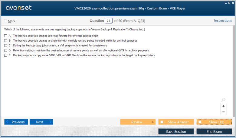 VMCE2020 Premium VCE Screenshot #3