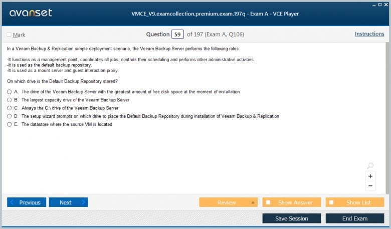 VMCE_V9 Premium VCE Screenshot #2