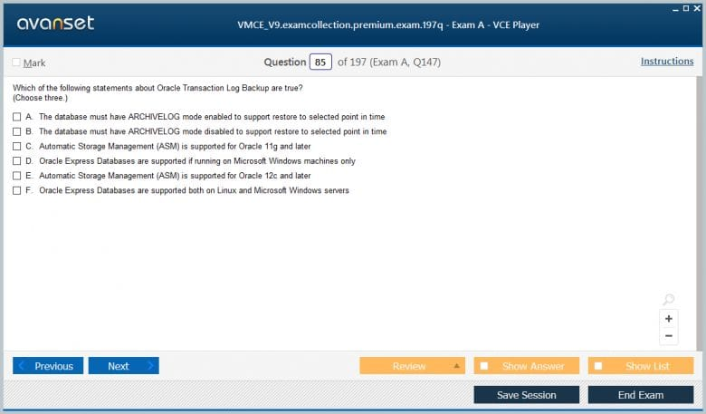 VMCE_V9 Premium VCE Screenshot #3