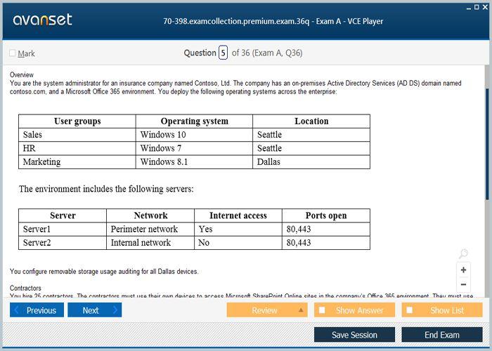 microsoft certification exams list pdf