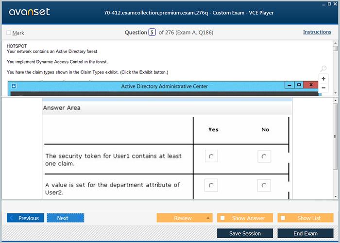 Microsoft MCSA 70-412 Practice Test Questions - 70-412 VCE