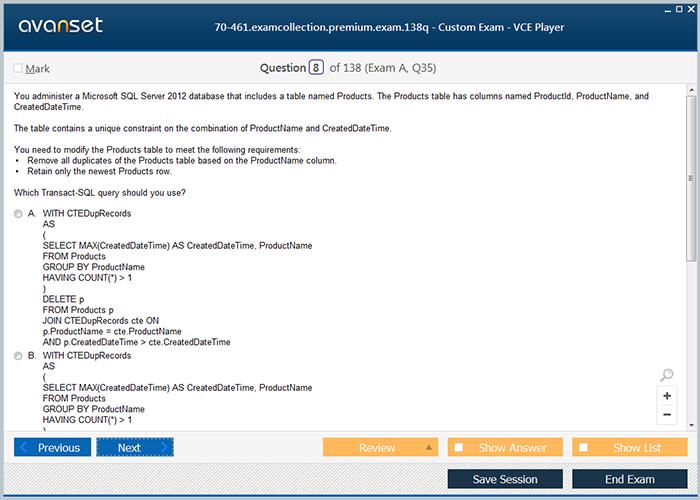 Microsoft Sql Certification Exam Dumps Microsoft Sql Practice Test
