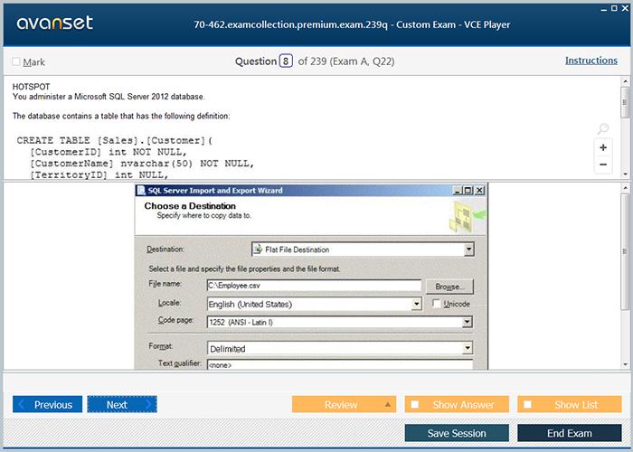 Microsoft Mcsa 70 462 Practice Test Questions 70 462 Vce Exam