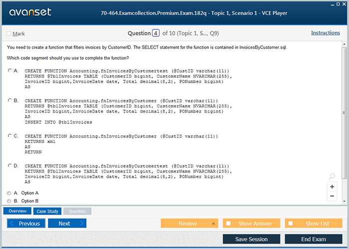Microsoft Mcse 70 464 Practice Test Questions 70 464 Vce Exam