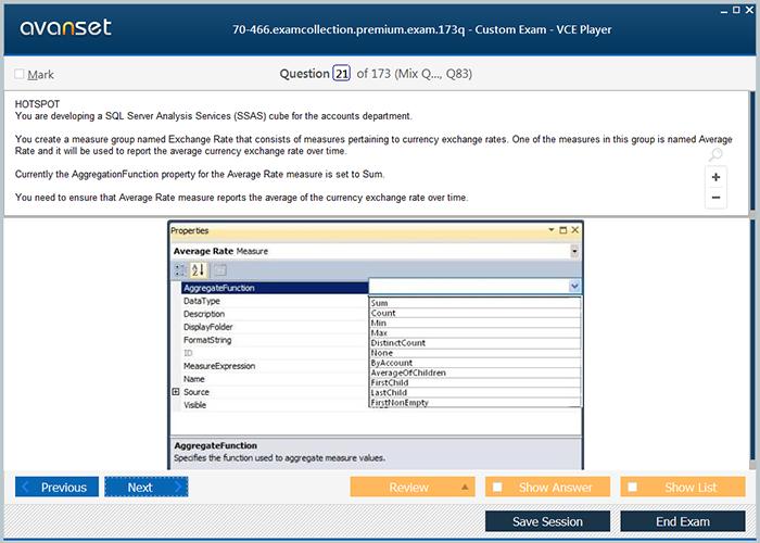 Microsoft Mcse 70 466 Practice Test Questions 70 466 Vce Exam
