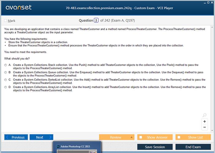 Microsoft Mcsd 70 483 Practice Test Questions 70 483 Vce Exam
